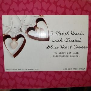 2boxes Heart string party lights Valentine day red